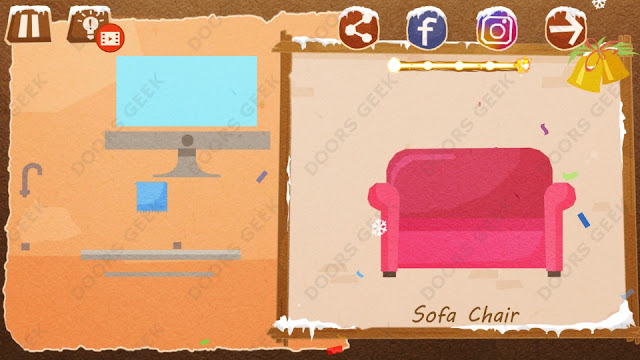 Chigiri: Paper Puzzle Christmas Pack Level 18 (Sofa Chair) Solution, Walkthrough, Cheats