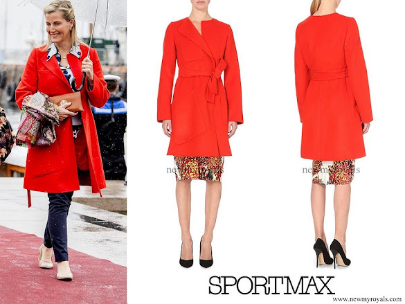 Countess Sophie of Wessex wore Sportmax Maesa Wool And Angora-Blend Coat