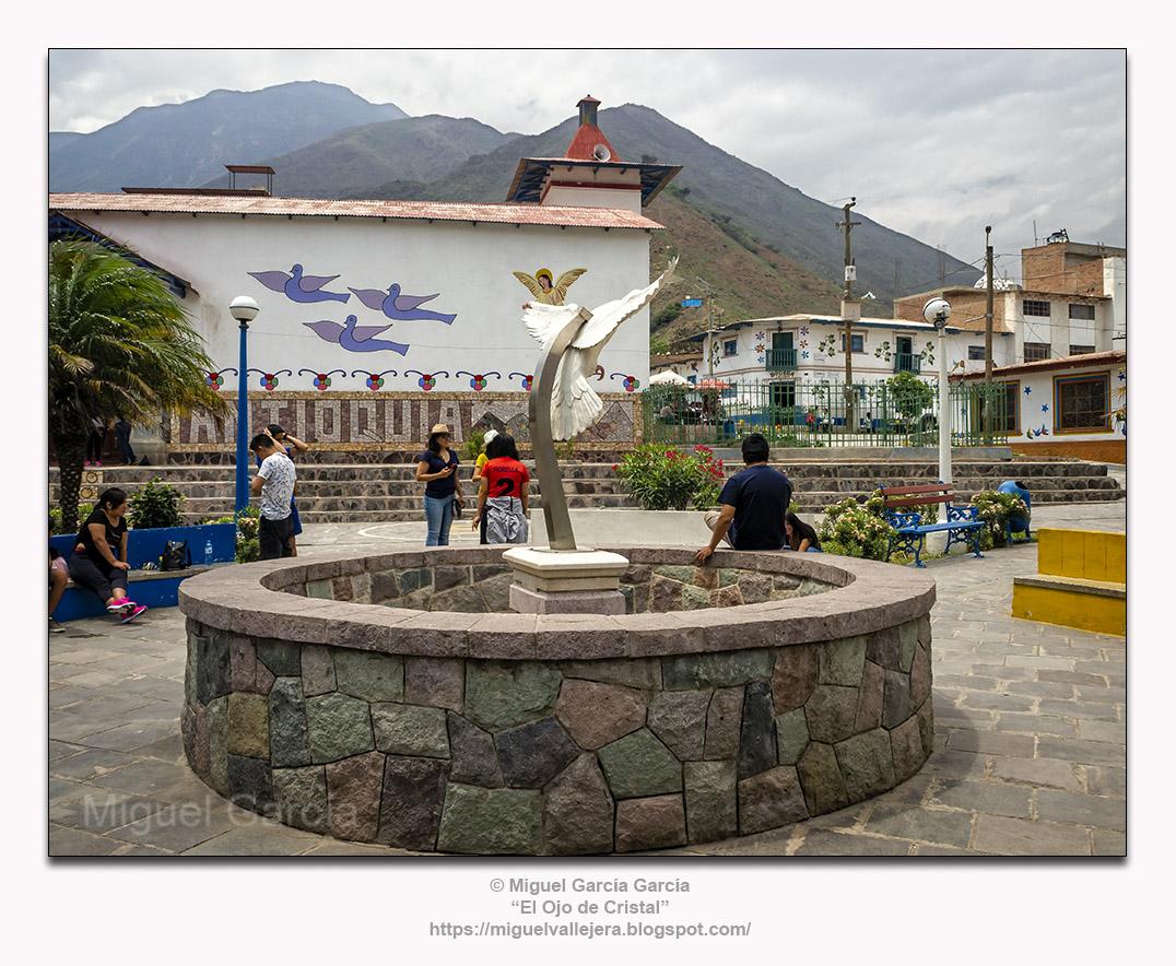 Antioquía, Huarochirí (Perú). Plaza de Armas.