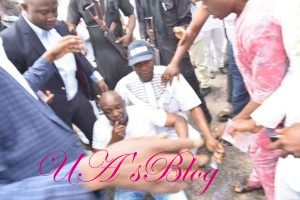 Police Fire Teargas At Gov Fayose In The Government House (Photos)