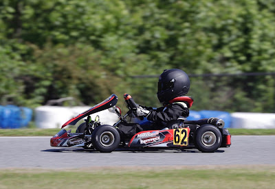 Keelan Harvick Captures Pole in His First Go-Kart Race #NASCAR