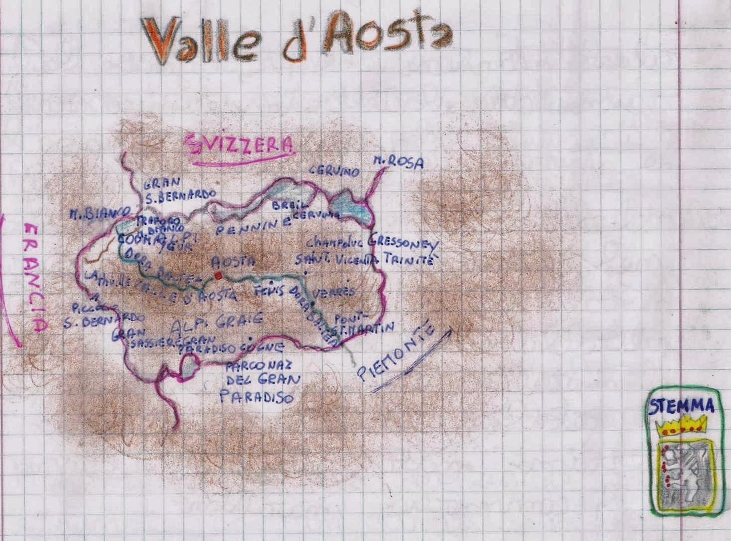 Cartina Della Valle D Aosta Da Stampare.Geografia Le Regioni D Italia La Valle D Aosta Spiegazioni E Prova Di Verifica Per La Classe Quinta Della Scuola Primaria