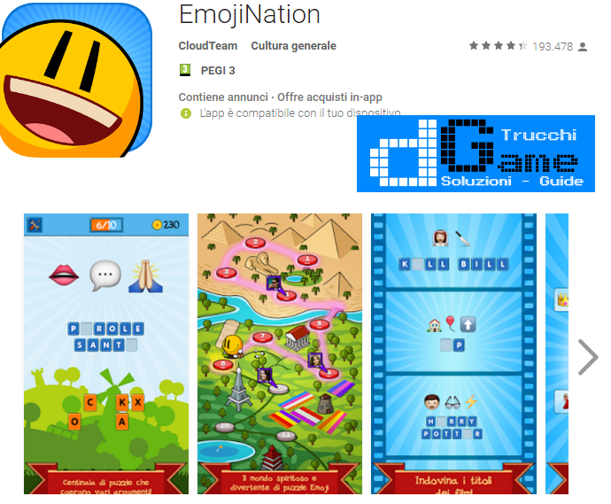 Soluzioni EmojiNation livello 61-62-63-64-65-66-67-68-69-70 | Trucchi e Walkthrough level
