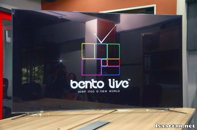 "Bento Live on a 75"" Samsung Smart TV at their office"