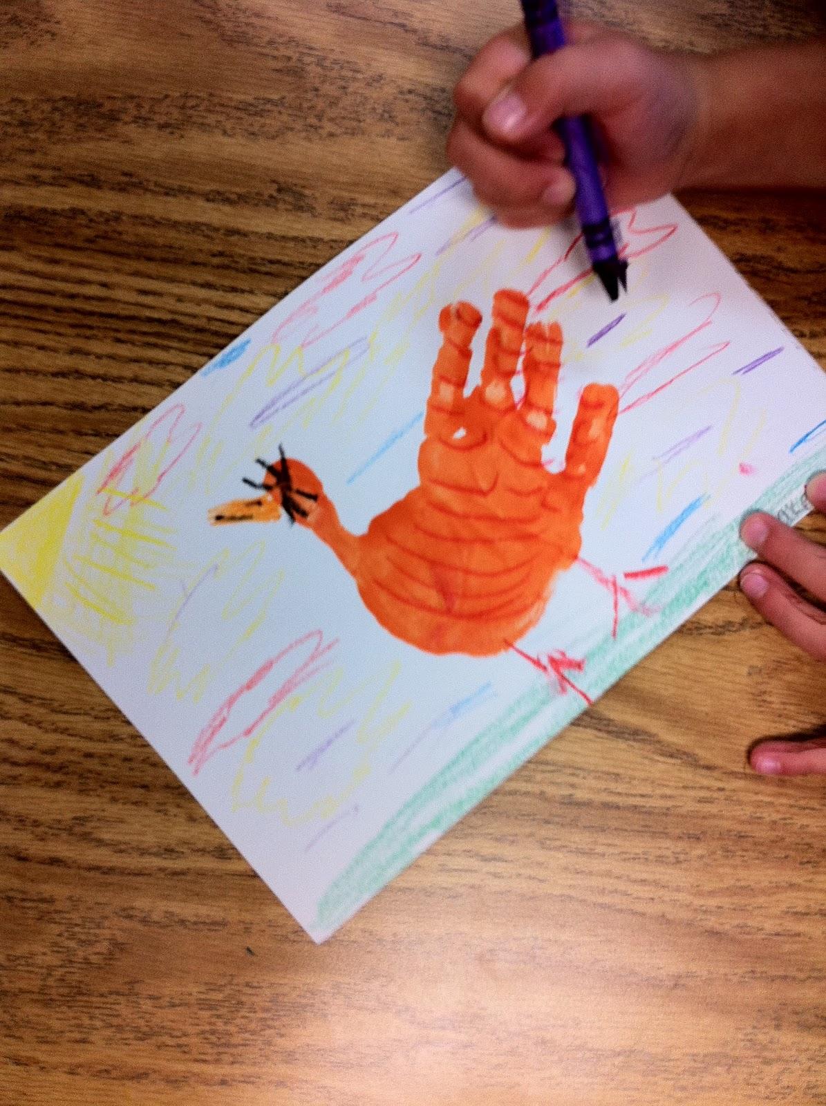 Handprint Little Red Hen Fairy Dust Teaching