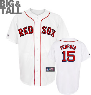 Big and Tall Boston Red Sox Dustin Pedroia Jersey