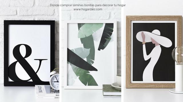 Dónde comprar láminas bonitas para decorar tu hogar