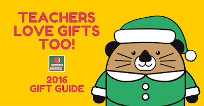 Teachers are a giving bunch by nature. But others may not know how to give back to teachers. Here is a 2016 Interactive Holiday Gift Guide to take or share!