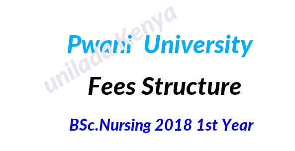 2018/2019 KUCCPS fees structure Bsc Nursing Pwani university