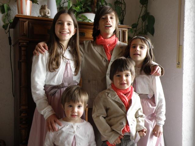 Meine fünf süßen Kinder April 2010 - mein sechstes Kind ist zu dem Zeitpunkt noch ungeboren