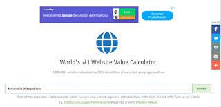 Cara Cek Harga Website dan Blog di worthofweb.com