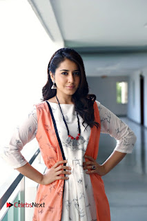 Actress Raashi Khanna Pictures in White Long Dress 0001