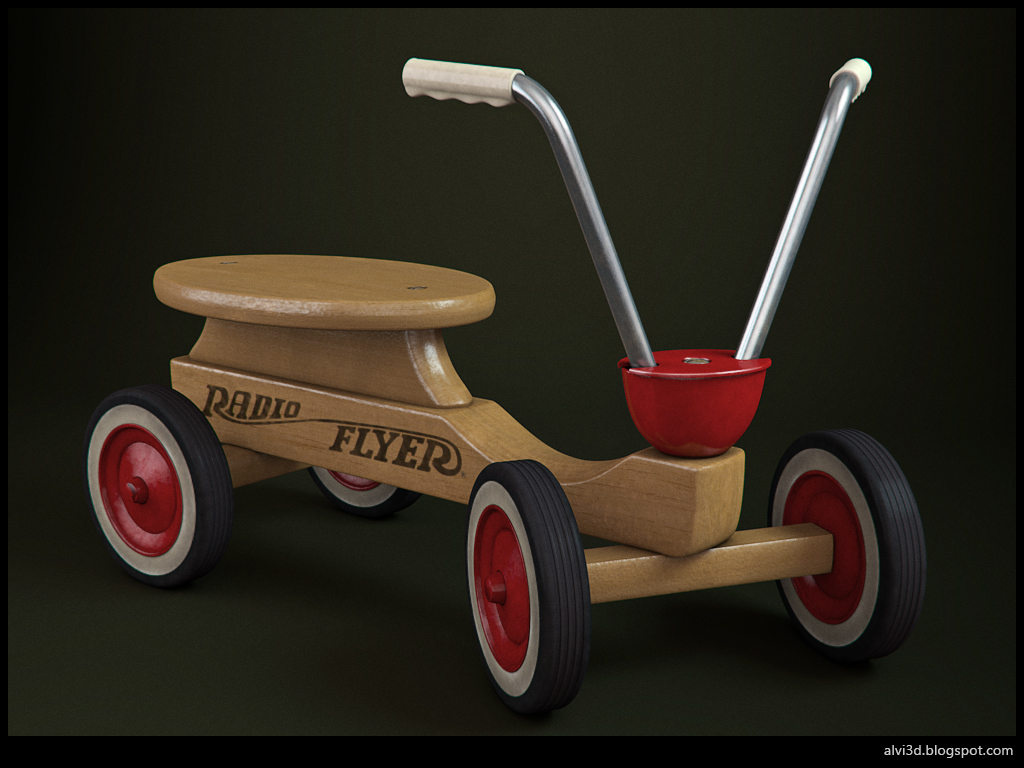 3d render radio flyer