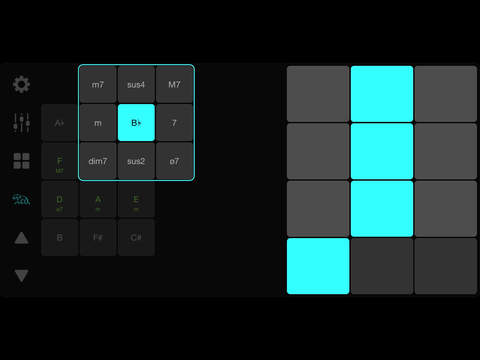 matrixsynth clawtar adaptive midi controller for the ipad chordup for iphone ipad. Black Bedroom Furniture Sets. Home Design Ideas