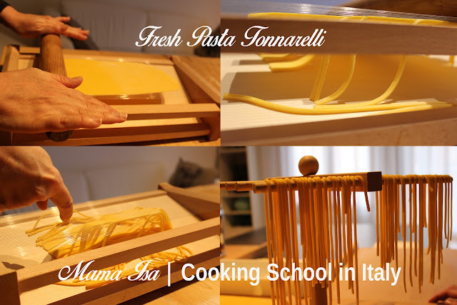 Fresh Pasta Workshop - Cooking Classes in Italy about the art of pasta making Tonnarelli