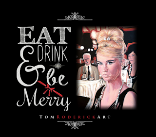 Eat Drink and Be Merry Betty Draper Portrait by Boulder artist Tom Roderick