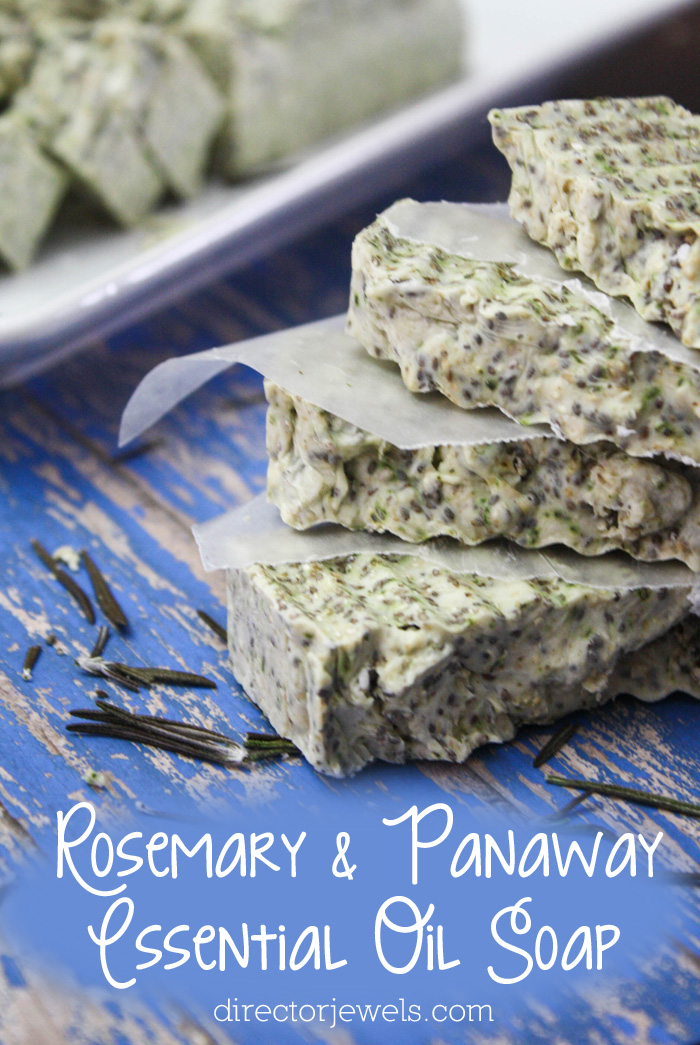 DIY Rosemary Panaway Young Living Essential Oil Soap Recipe