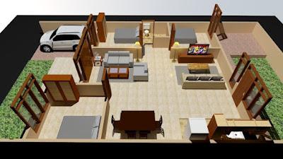 Contoh Desain Tata-Ruang Rumah Minimalis