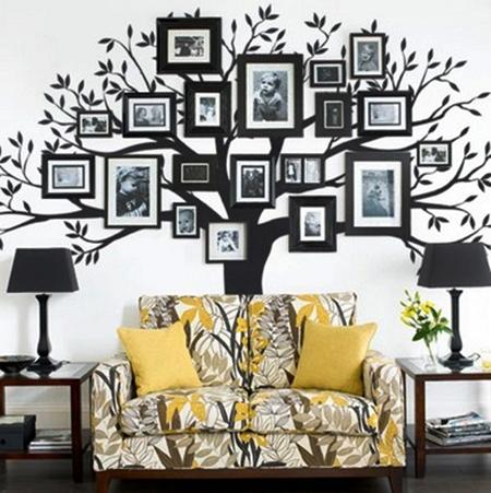 kumpulan contoh hiasan dinding untuk ruang tamu yang