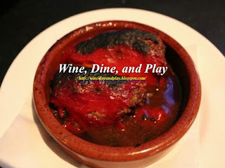 The appetizer braised beef piquillo peppers dish at Ecco restaurant in Atlanta