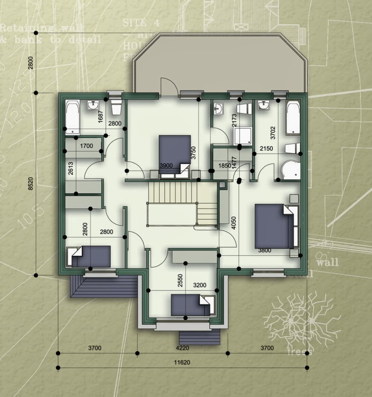 Home Design Ideas Floor Plans: Duplex House Ground, First Floor Plans And Elevation View