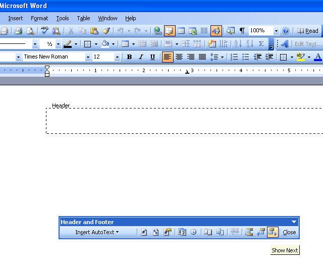 Format Header In Microsoft Word 2003 ~ Microsoft Office ...