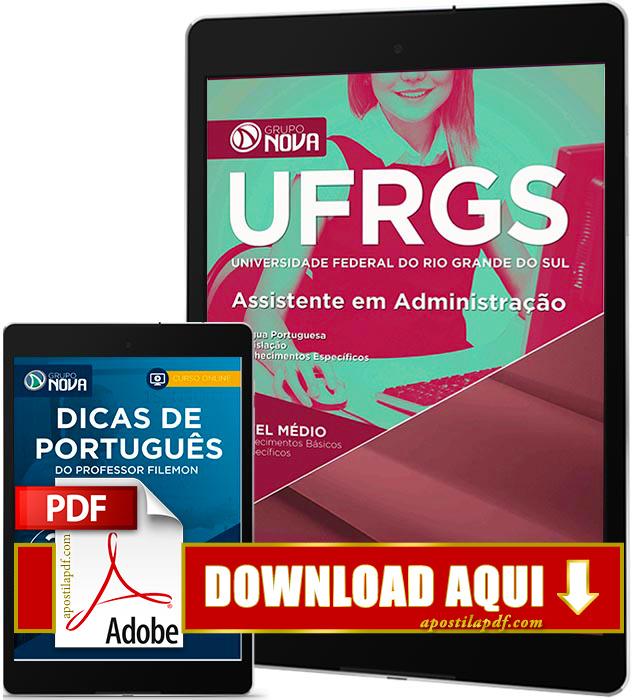 Apostila UFRGS 2016 PDF Download Assistente em Administração PDF