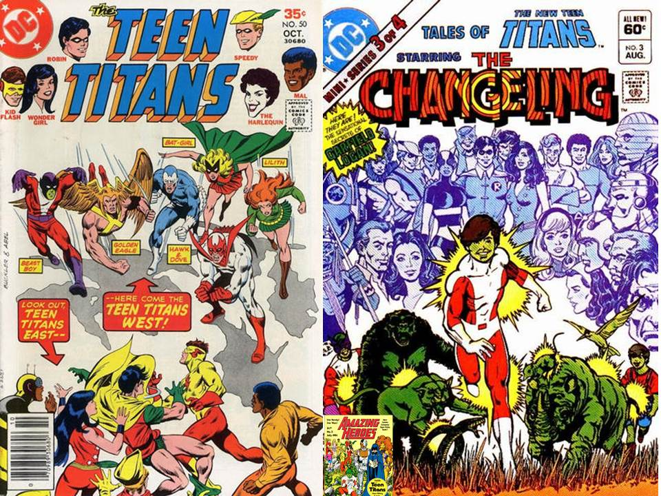 ...and that covers the members of the original Teen Titans (Robin, Aqualad,  Kid Flash, Wonder Girl, Speedy, Hawk, Dove, Lilith, Mal, Gnarrk, Harlequin,  ...