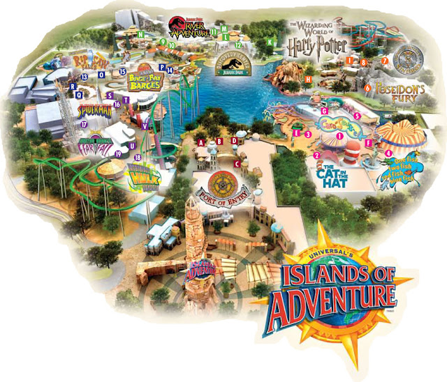 Mapa de  Islands Of Adventure