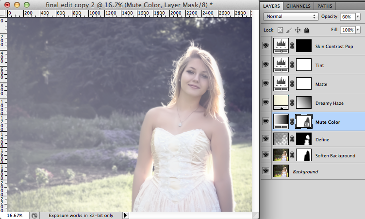 how to make low opacity flat photoshop