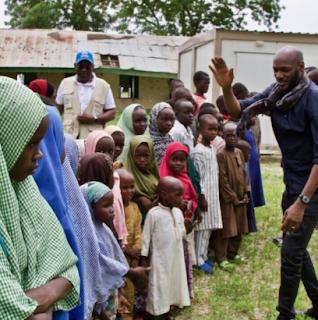 Photos of 2face Idibia at Borno State's IDP camp 4