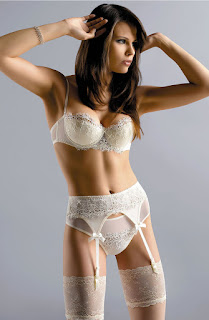 Gracya Jonquil suspender belt bridal