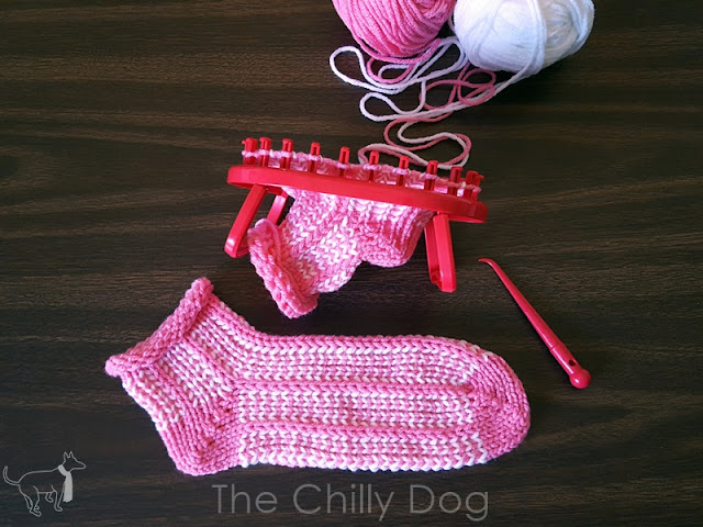 Loom Knit Socks Pattern: The fourth of four Clover Oval Standing Knitting Loom projects that will keep you cozy from head to toe.