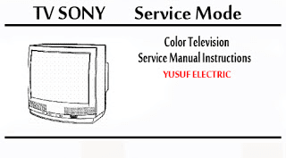 Service Mode TV SONY Berbagai Type _ Color Television Service Manual Instructions