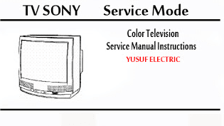 Service Mode TV SONY Berbagai Type