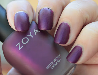 Zoya Matte Velvets for Winter 2015 - Iris