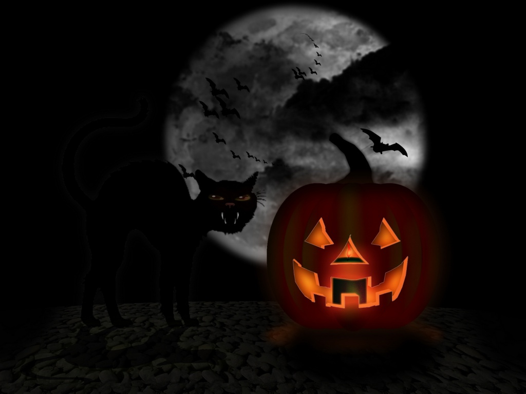 Free holiday wallpapers october 2011 - Scary halloween pumpkin wallpaper ...