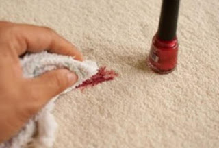 How to remove nail polish for carpet