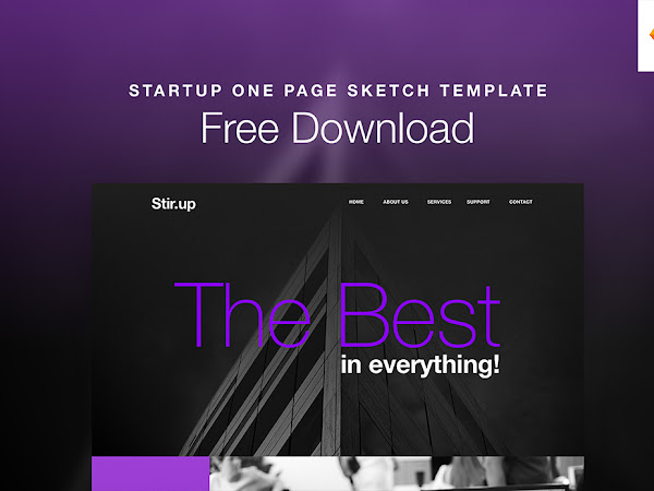 Download Startup One Page Sketch Template Free