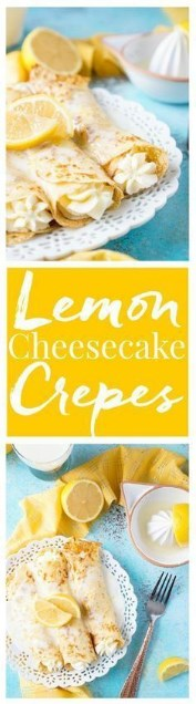 Lemon Cheesecake Crepes