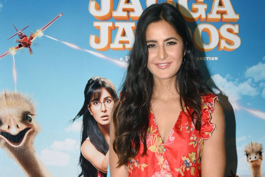 Ranbir and Katrina Kaif at Trailer Launch of Jagga Jasoos at YRF Preview Theatre Mumbai