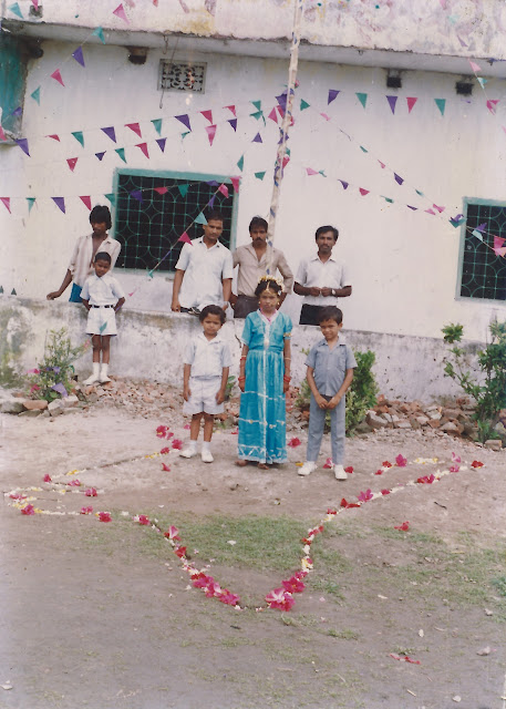 swati swaraj and shaurabh bharti School function, 1988