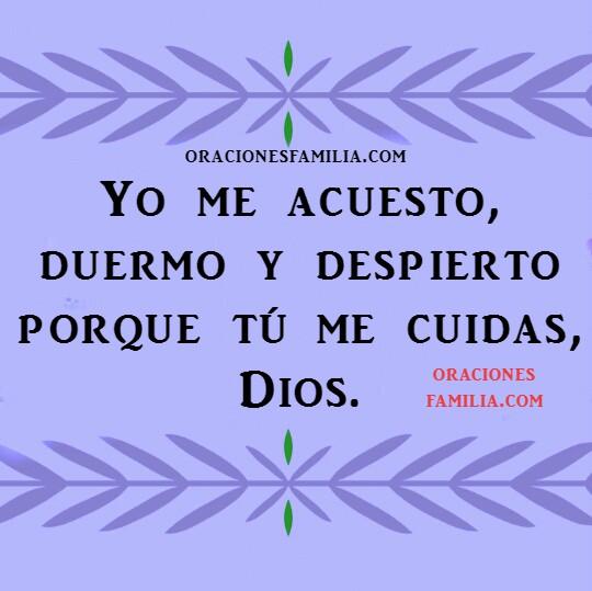 Oración corta de la noche de descanso, oraciones para la hora de dormir, imágenes con oraciones antes de ir a la cama por Mery Bracho.