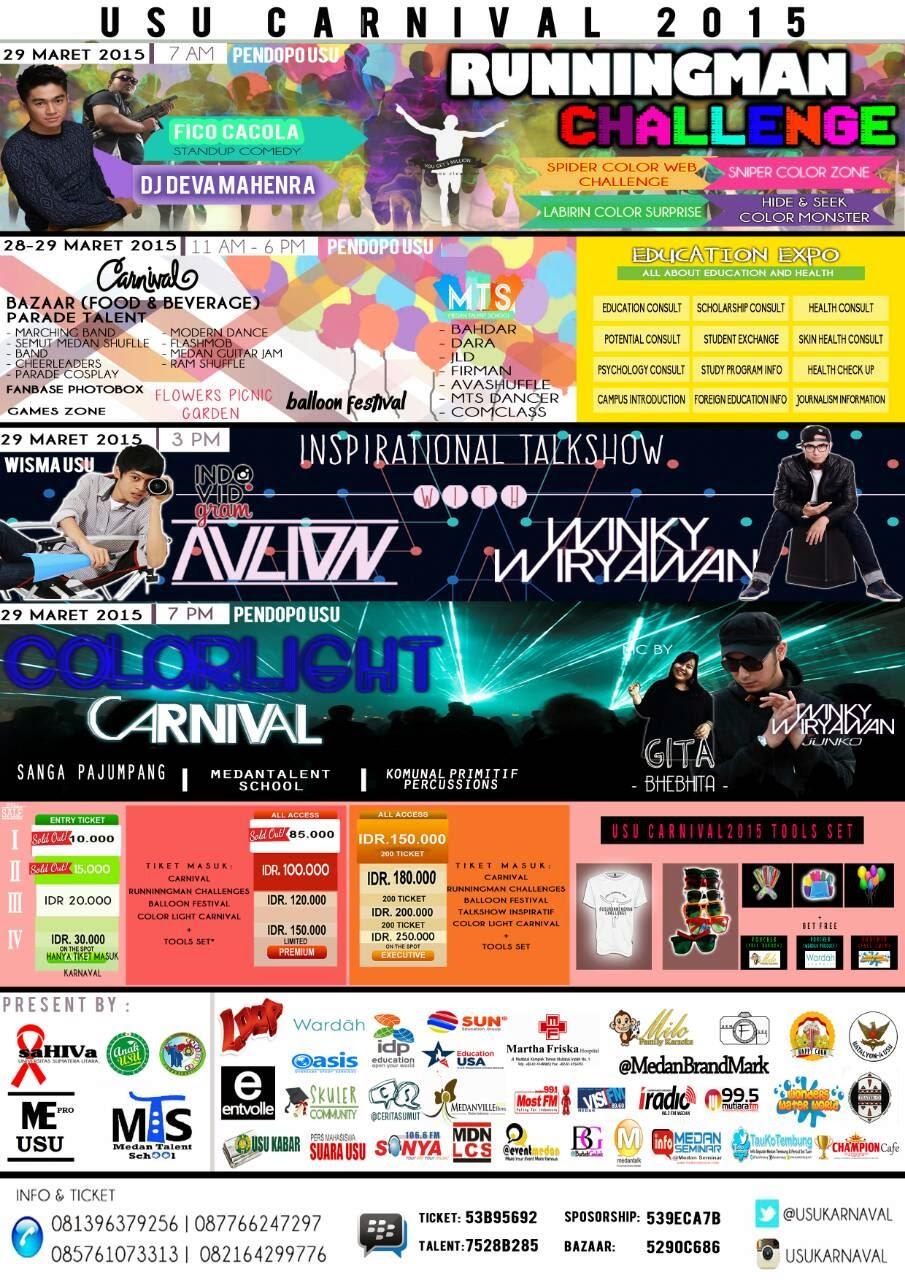 USU Carnival 2015 Targetkan 20.000 Pelajar Se-Kota Medan