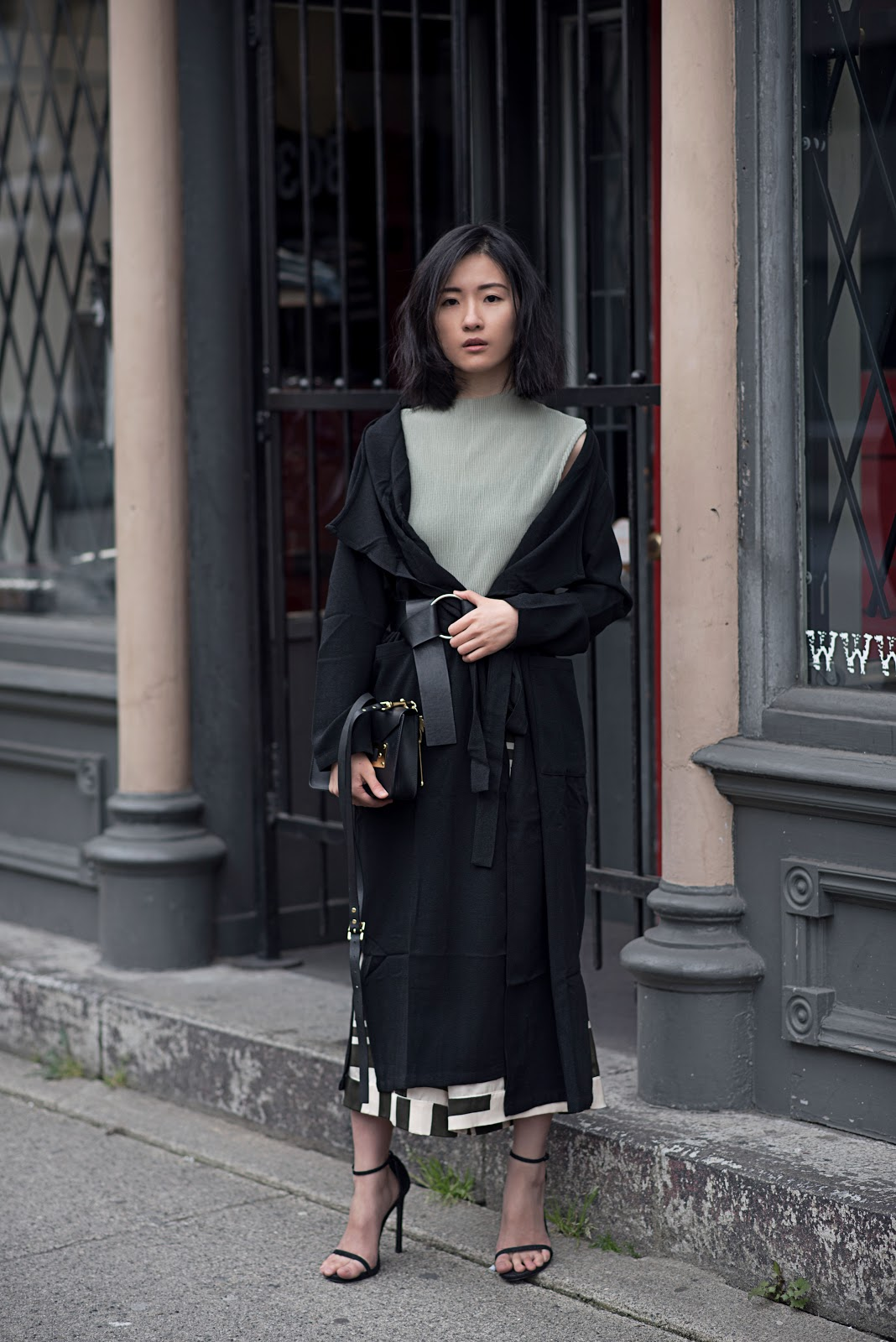 von vogue na-kd long trench coat