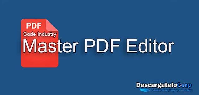 Master PDF Editor Aplicación para trabajar con documentos PDF