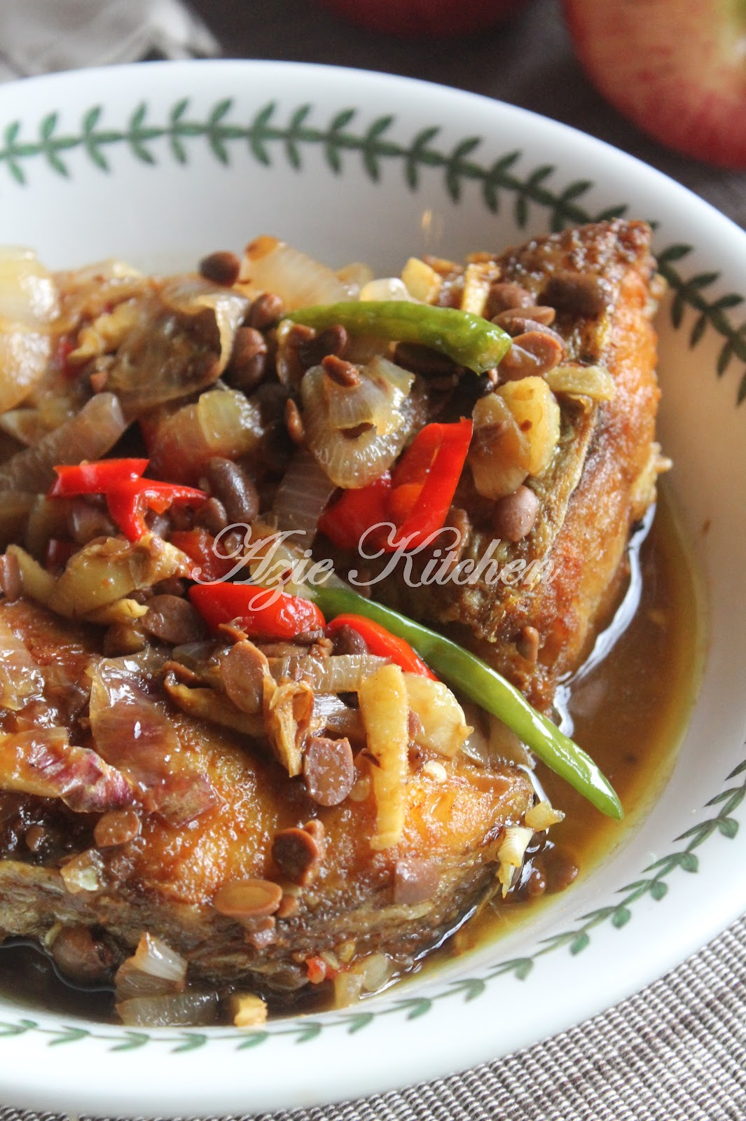 Ikan Kerisi Masak Tauchu Yang Sangat Sedap - Azie Kitchen