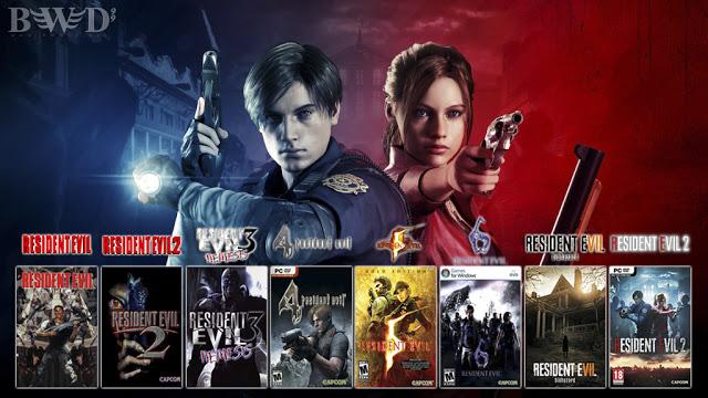 تحميل جميع اجزاء لعبة [ Resident Evil ] على الكمبيوتر مجانا