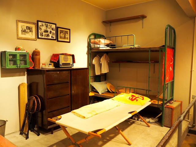 Bedroom replica in Hong Kong 1970s to present exhibit in Hong Kong Museum of History
