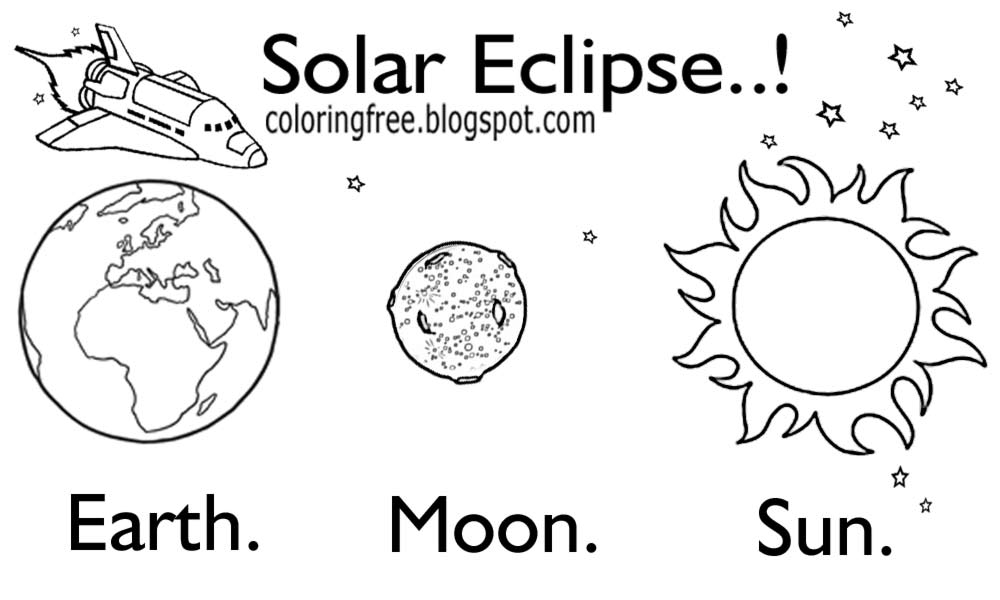 Free coloring pages printable pictures to color kids drawing ideas sun earth moon solar eclipse drawing for children at school solar system space diagram to color ccuart Choice Image